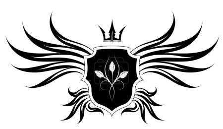 Crown, wind, banner