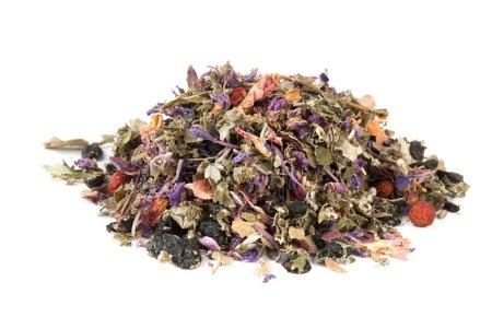 Photo pour Un tas de tisanes. Fleurs séchées, baies et feuilles de thé - image libre de droit