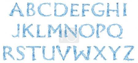 Photo pour Alphabet en eau glacée - image libre de droit
