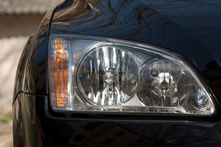 Headlight of car