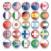 Web buttons with flags isolated on white Name of the country as the name of the layer Easy to change Vector illustration eps 10