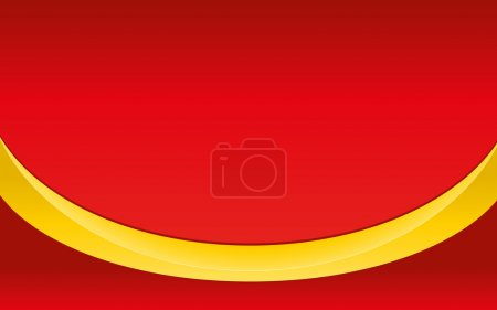 Yellow ribbon on red background