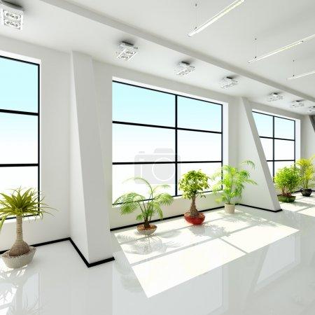 Foto de Interior moderno de una sala (representación 3d ) - Imagen libre de derechos
