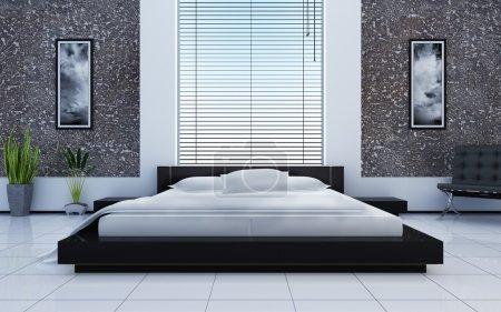 Photo pour Intérieur moderne d'une chambre à coucher - image libre de droit
