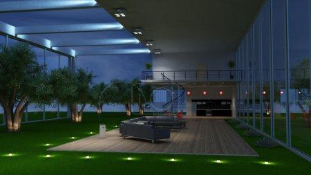 Photo pour Intérieur moderne d'une pièce (rendu 3d ) - image libre de droit