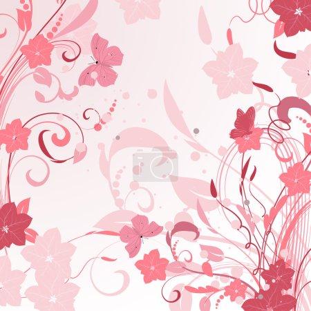 Illustration pour Pulvérisations florales roses design - image libre de droit