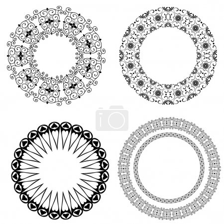 Illustration for Baroque pattern of round - Royalty Free Image