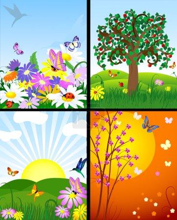 Illustration for Natural landscapes - Royalty Free Image