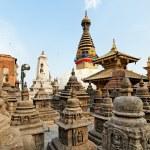 Swayambhunath (monkey temple) stupa on sunset Kathmandu, Nepal