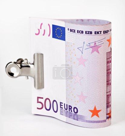 Bundle of 500 Euro bank notes