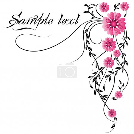 Illustration for Decorative flowers ornament - Royalty Free Image