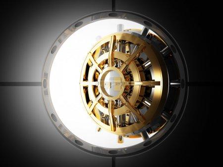 Bank door vault 3d