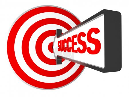 Photo for 3d target and success arrow metaphoric business image - Royalty Free Image