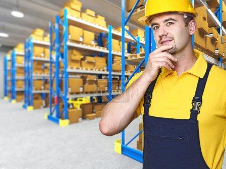 Caucasian manual worker portrait