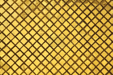 Photo for Golden tiles closeup image background - Royalty Free Image
