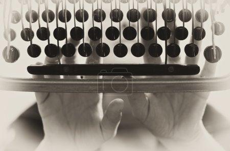 Typewriter vintage background