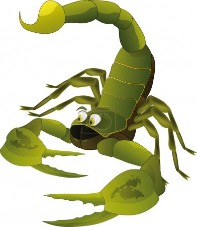 Illustration for Nice scorpion insect animals astrology - Royalty Free Image