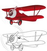 červené letadlo