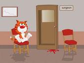 "Постер, картина, фотообои ""Кошка на приеме у врача"""
