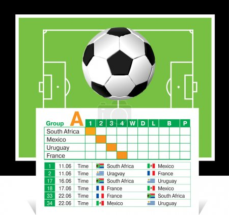 Schedule of games of the World Cup 2010