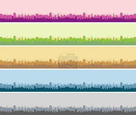Illustration for Cityscape background, urban art - Royalty Free Image