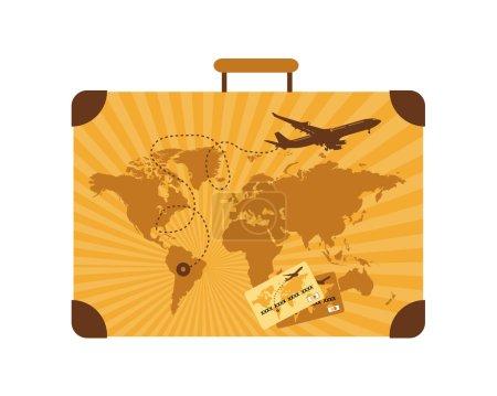 Illustration for Summer travel, suitcase - Royalty Free Image