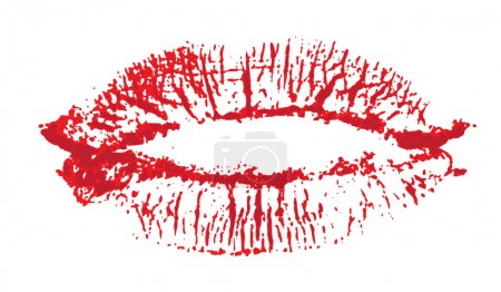 Illustration for Lips, kiss colored - Royalty Free Image