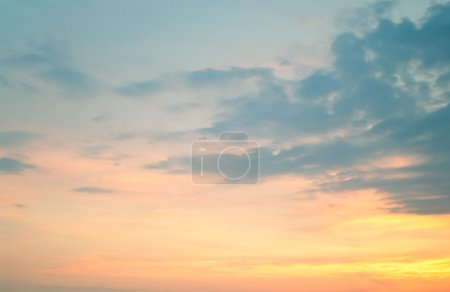 Photo for Photo of sunset on a cloudy sky. Natural background - Royalty Free Image