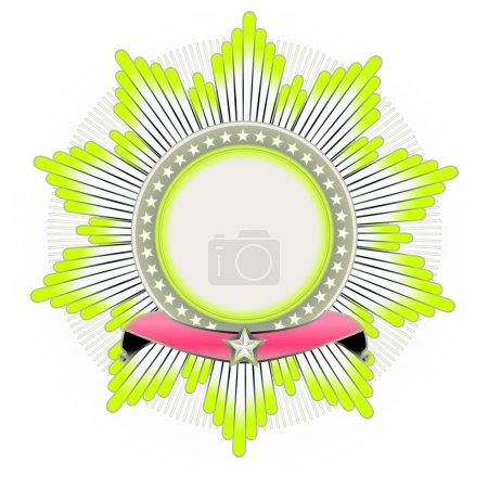 Photo pour Illustration de star en forme insigne avec la bannière. vide, vous pouvez ajouter vos propres images. - image libre de droit