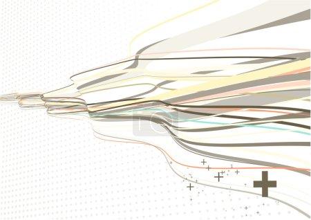 Photo pour Illustration de lignes courbes ondulées sur fond pointu - image libre de droit