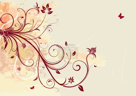 Foto de Ilustración de Grunge Floral Background - Imagen libre de derechos