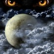 Dark series - full moon. Horror in night...