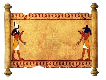 Photo pour Faites défiler les images des dieux égyptiens - Anubis et Horus. Objet sur blanc - image libre de droit