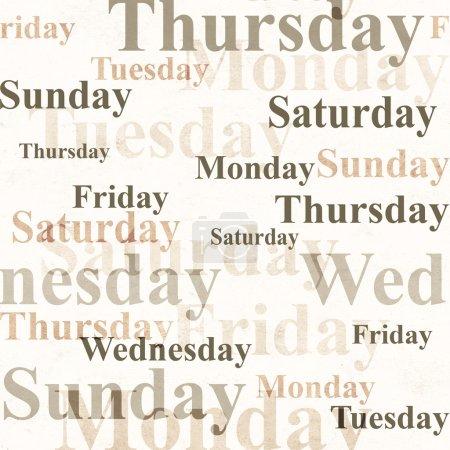 Photo pour Grunge fond avec les noms des jours de la semaine - image libre de droit