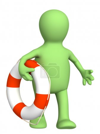 Puppet with a lifebuoy