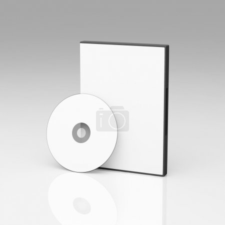 Photo for Blank DVD case and disc - Royalty Free Image