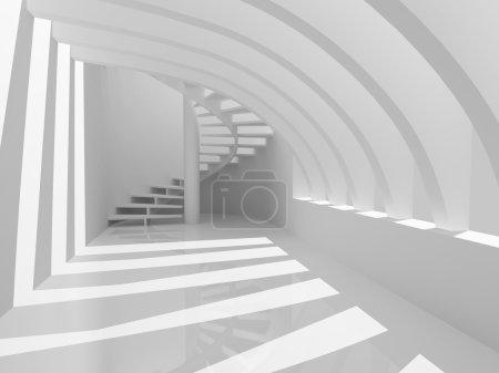 Photo pour Moderne hall avec escalier - image libre de droit