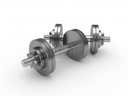 Photo for Dumbbell weights isolated on white background - Royalty Free Image