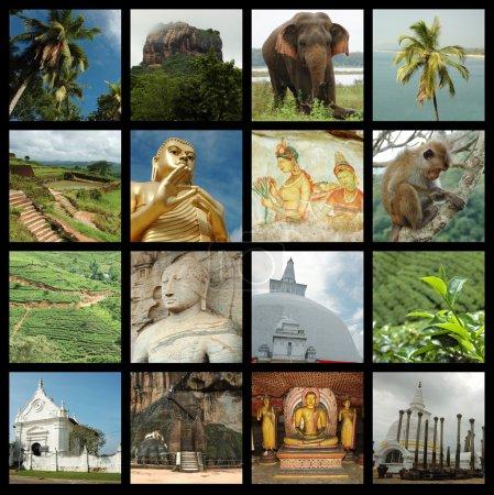 Sri lanka collage avec des photos de point de repère