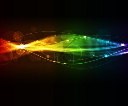 Illustration for Abstract background with glowing elements - Royalty Free Image