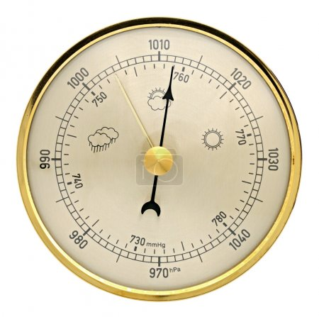 Barometer on a white background...