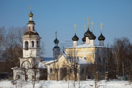Old orthodox church in winter, Russia