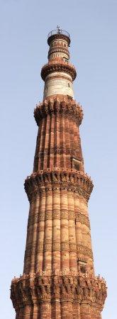 Qutb Minar minaret tower panorama, Delhi, India