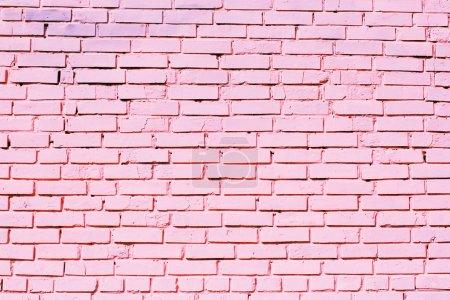 Photo pour Texture de mur de briques roses - image libre de droit