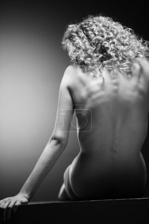 Nude back and body on young female