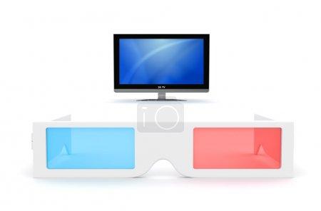 3-D Brille und Display