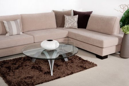 Photo for Beautiful living room with modern couch - Royalty Free Image