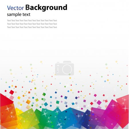Photo for Illustration of  background with colorful blocks and glitters - Royalty Free Image