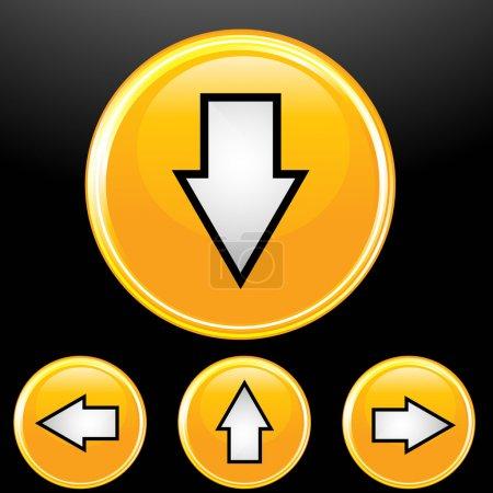 Photo pour Illustration de l'ensemble avec des icônes de flèches dans différentes directions - image libre de droit