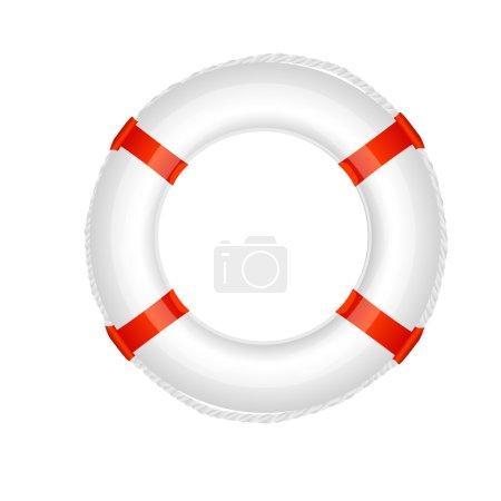 Illustration of Lifebuoy on white